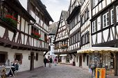 Half-timbered ouses In The Petite-france District Of Strasbourg