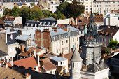 Ancient Architecture Of Dijon City, View From Above