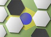 Illustration Of Brasil Flag With Soccer Items