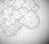 pic of interior sketch  - Detailed architectural plan - JPG