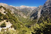 stock photo of samaria  - View of the Samaria Gorge - JPG