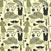 Dandy Style Beautiful Vintage Seamless Pattern