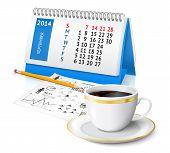 Calendar and business sketch