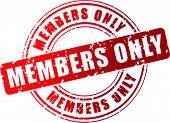 Vector Members Stamp