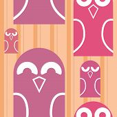 Owls seamless