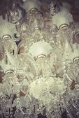 crystal chandelier.Glamour concept background with copy space