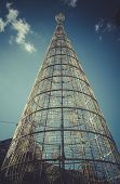 christmas tree at puerta del sol, Image of the city of Madrid, its characteristic architecture