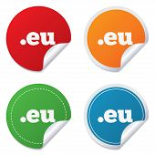 Domain EU sign icon. Top-level internet domain