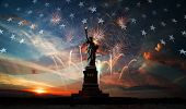 Independence Day. Liberty Enlightening The World