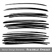 Set of Hand Drawn Scribble Smears