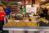 Selection Of Olives, Machane Yehuda Market, Israel