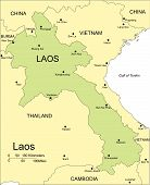 Laos, Major Cities and Capital and Surrounding Countries