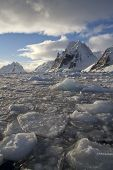 Mountains Of The Antarctic Peninsula On A Sunny Day