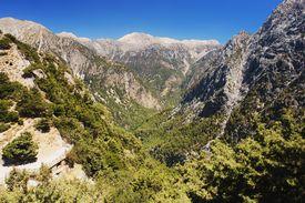 stock photo of samaria  - View of the Samaria Gorge - JPG