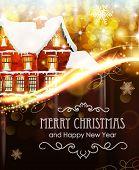 House On Christmas Background