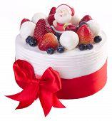 foto of ice-cake  - cake Christmas ice cream cake on background - JPG
