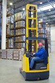 The Driver Of A Forklift Pallet Truck, Reach Trucks.