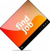 Find Job On Media Player Interface