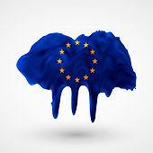European Union flag painted colors