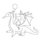 Birthday Girl on Dragon