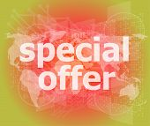 Special Offer Text On Digital Screen