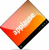 picture of applause  - Video movie media player with applause word on it - JPG