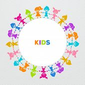 Colorful kids friends image