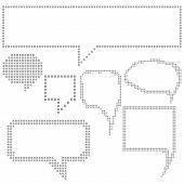 Pixel Speech Bubbles