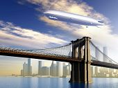 Airship over Manhattan