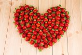Strawberries in the form of heart