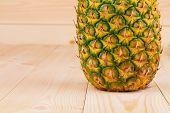 Half of Fresh ripe pineapple
