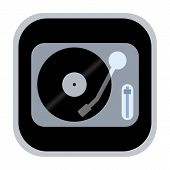 Vinyl turntable icon