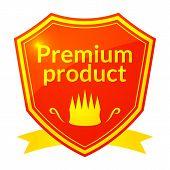 Retro vector premium product label
