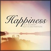 Inspirational Typographic Quote - Happiness