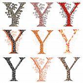 Various Combination Fishnet Letter Y.
