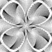 Design Monochrome Decorative Twirl Background