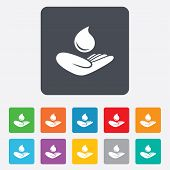 image of save water  - Save water sign icon - JPG