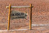 Signpost To Hidden Vlei In Namib Desert