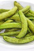 Japanese appetizer and snack fried edamame soy bean