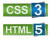 HTML CSS Blue Green
