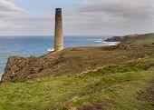 Historical Coastline Of Cornwall Levant Mine