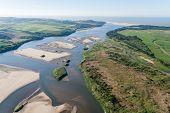 River Sandbanks Aerial View Landscape