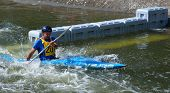 Male Competitor in competition at Bedford Viking Kayak Club