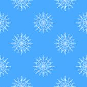 Beautiful vector snowflakes seamless pattern