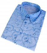 Shirt, Man's Batik Shirt On Background.