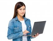 Woman use of notebook