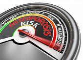 Osteoporosis Risk Conceptual Meter Indicate Maximum