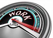 Work Conceptual Meter Indicate Maximum