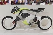 Electric Motorcycle On Display At Eicma 2014 In Milan, Italy