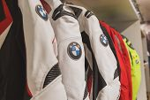 Bmw Motorbike Suit On Display At Eicma 2014 In Milan, Italy